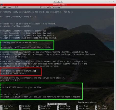 NTP Client Configuration