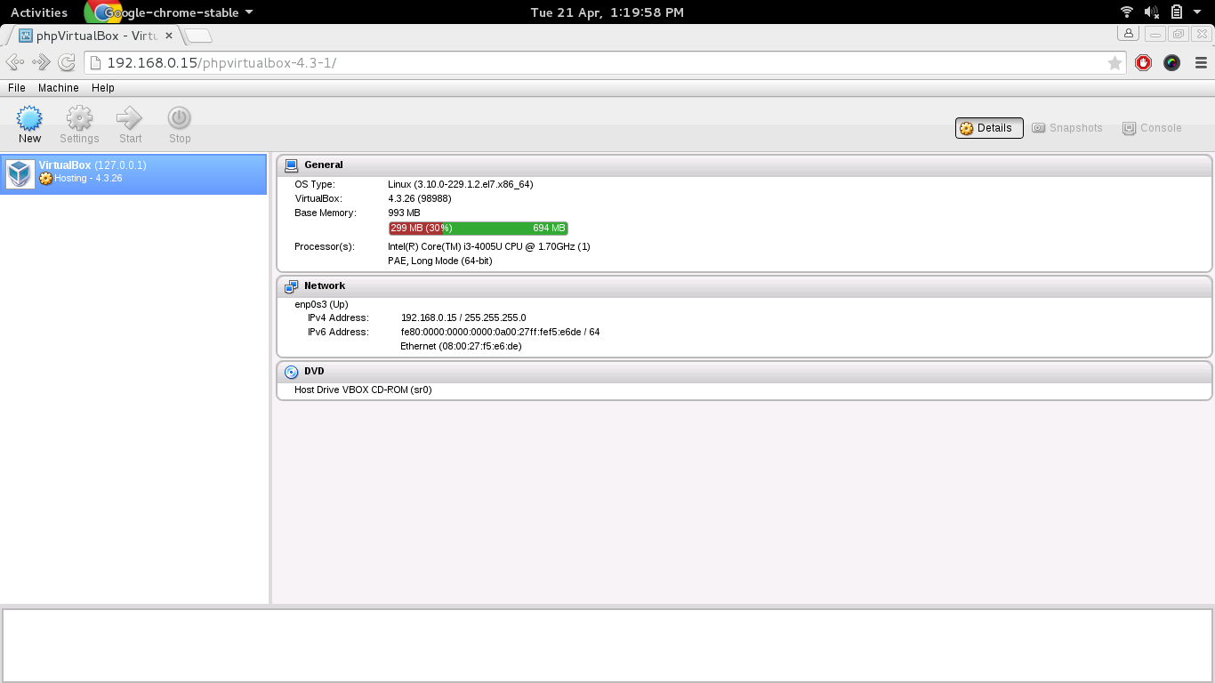 PHP Virtualbox Dashboard