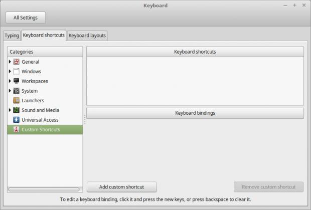 Keyboard Custom Shortcuts
