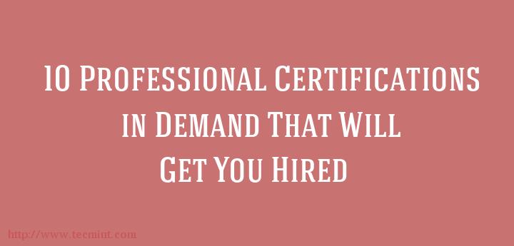 10 Top IT Certifications in Demand