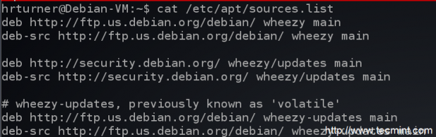 Debian Wheezy Sources List
