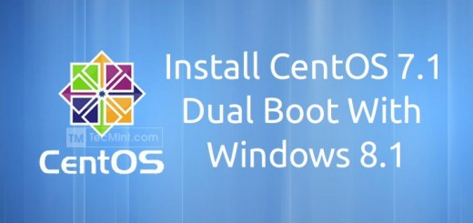 CentOS 7.1 Installation with Windows 8.1