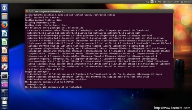 Install Ubuntu Extras
