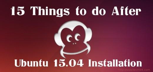 Things to Do After Installing Ubuntu 15.04