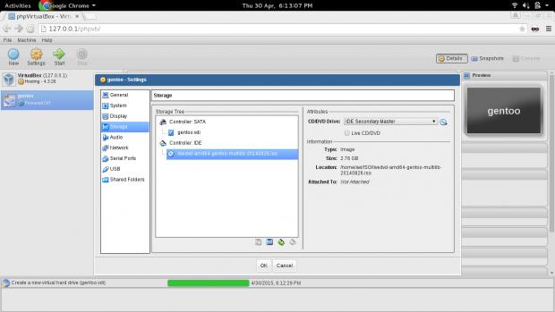 Select VM Installation Media