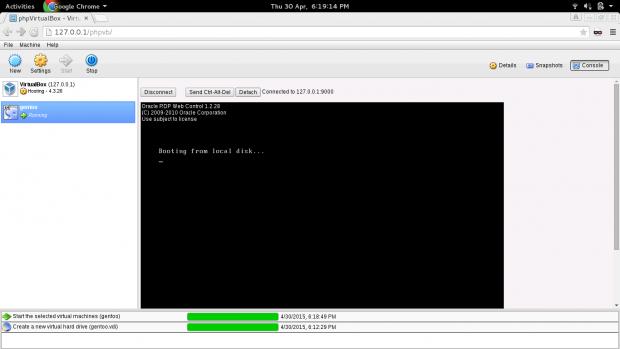 VM Terminal in Action