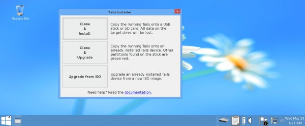 Tails Installer Options