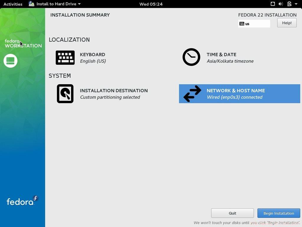 installation of fedora 22 workstation with screenshots rh tecmint com Fedora Meme Trilby vs Fedora