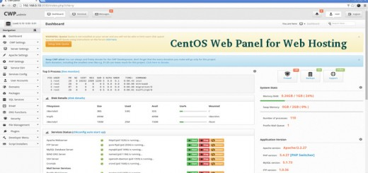 Free Control Panel for CentOS