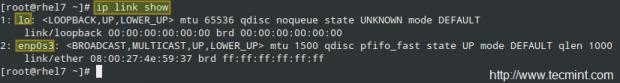 Check Network Link Status