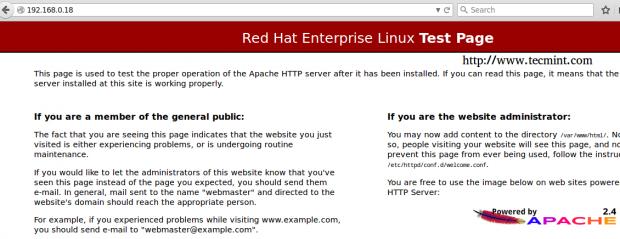 Confirm Apache Web Server