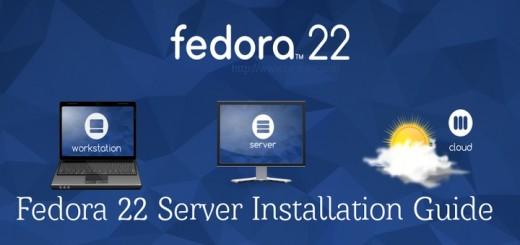 Fedora 22 Sever Installation