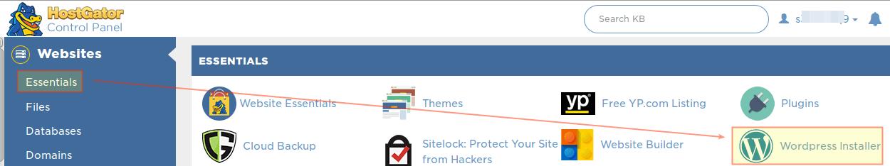 HostGator WordPress Installer