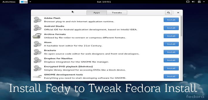 Install Fedy in Fedora