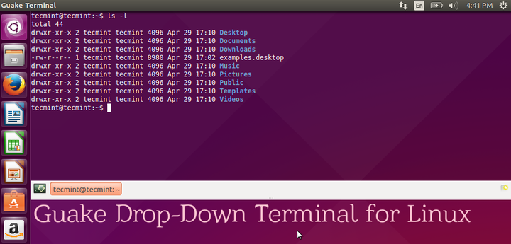Install Guake Terminal