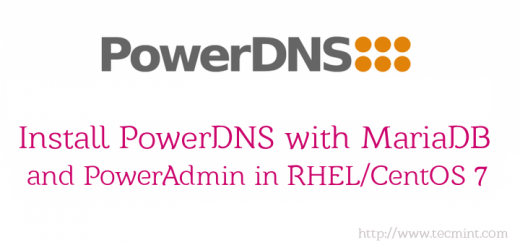Install PowerDNS and PowerAdmin in CentOS