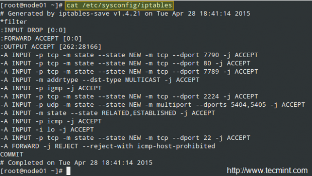 Iptables Firewall Configuration