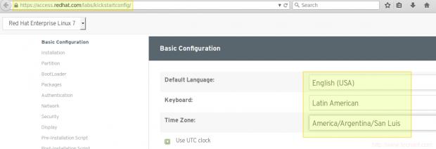 Kickstart Configuration Tool