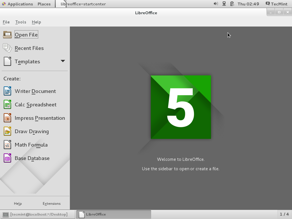 LibreOffice 5.1.4 Released - Install on RHEL/CentOS/Fedora and Debian/Ubuntu/Linux Mint