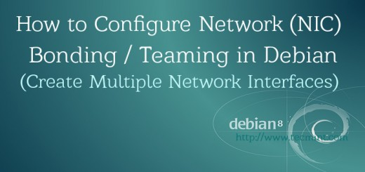 Network NIC Bonding Teaming in Debian