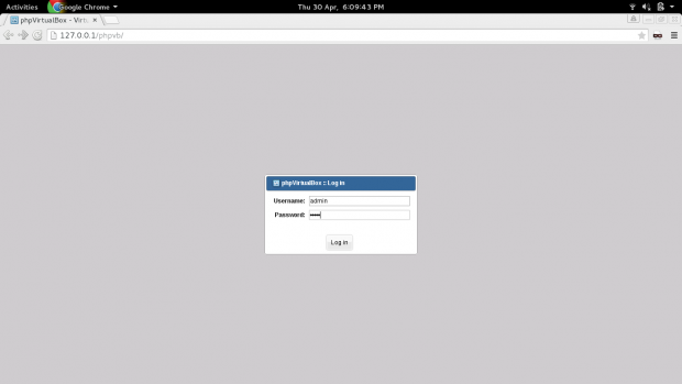 PHPVirtualbox Login