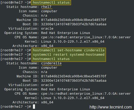 Set System Hostname in CentOS 7