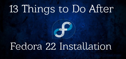 Things to do After Fedora 22 Installation