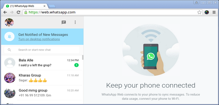 how to run whatsapp on laptop