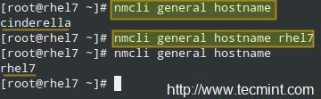Set Hostname Using nmcli Command