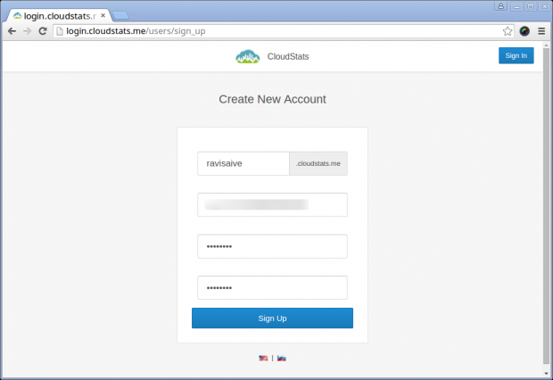 CloudStats SignUp
