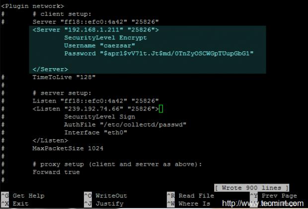 Configure Collectd Authentication