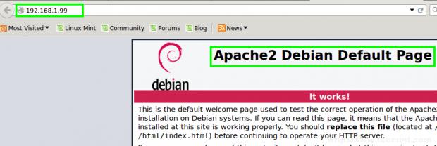 Debian 8: Apache2 Default Page