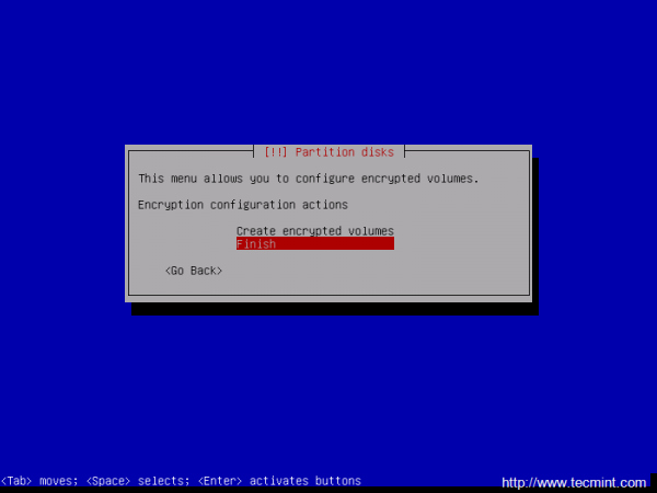 Finish Encrypted Partition