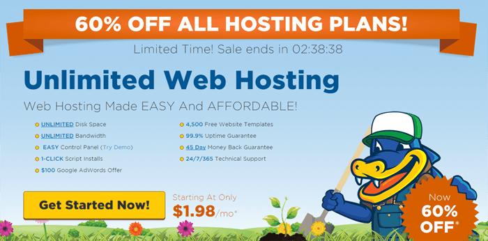 Hostgator 60% Discount