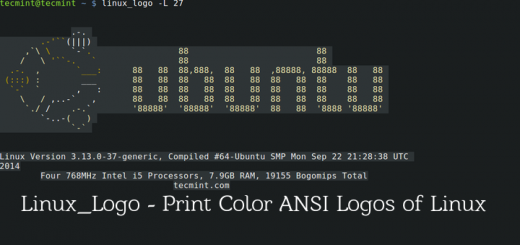 Linux_Logo - Prints Color ANSI Logs of Linux Distro