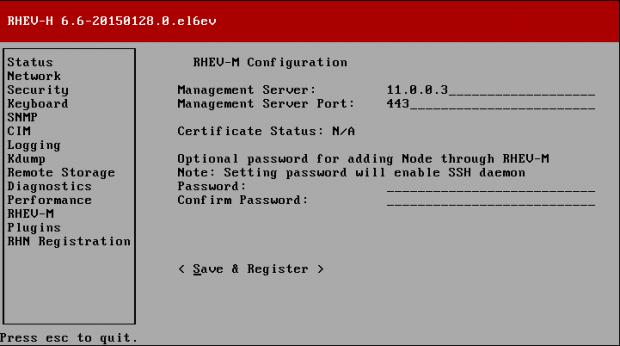 RHEV-M Configuration