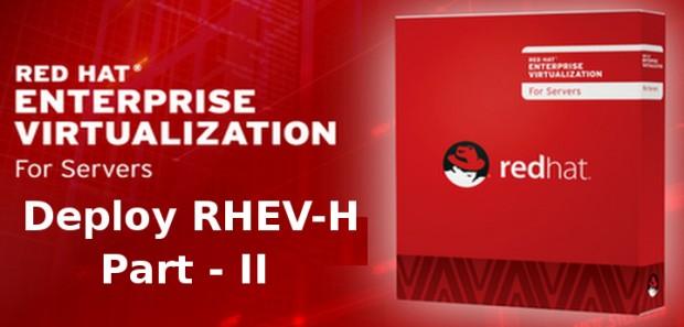 Deploy RedHat Enterprise Virtualization Hypervisor