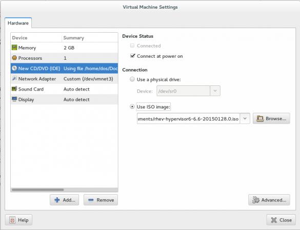 Select Hypervisor ISO Path