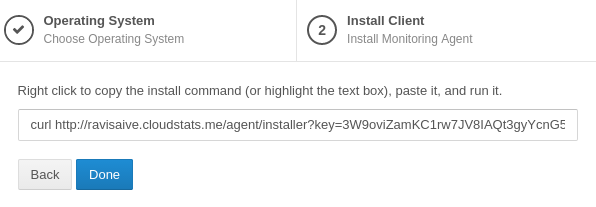 Install CloudStats Agent