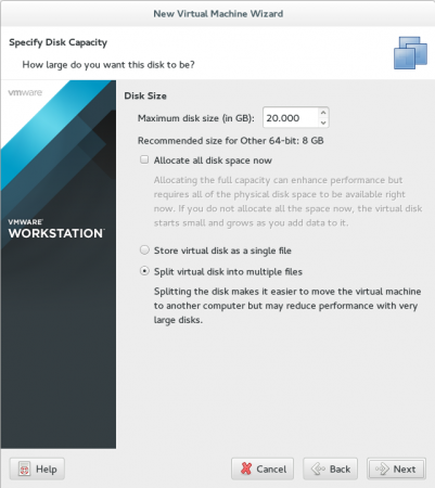 Select Storage Capacity