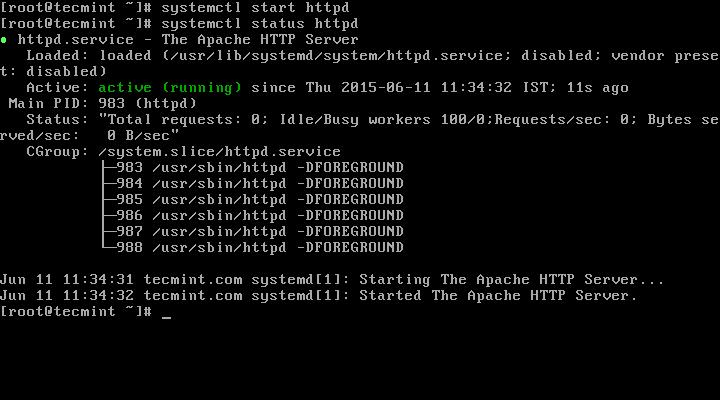 Start Apache Web Server