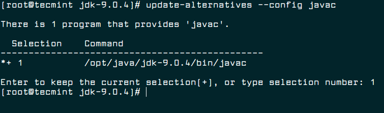 Update Javac Alternatives