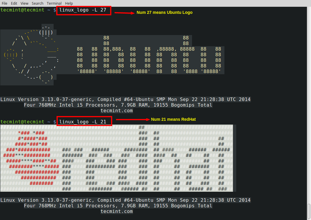 Linux Logo A Command Line Tool To Print Color Ansi Logos Of Linux Distributions