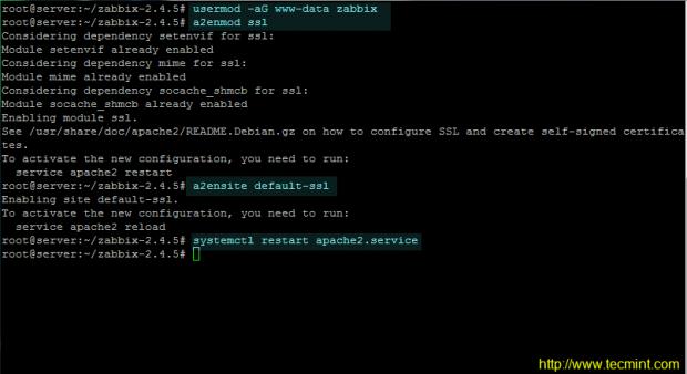 Add Zabbix User to Apache