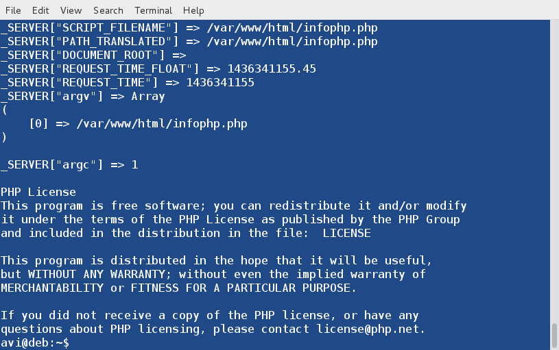 php command line