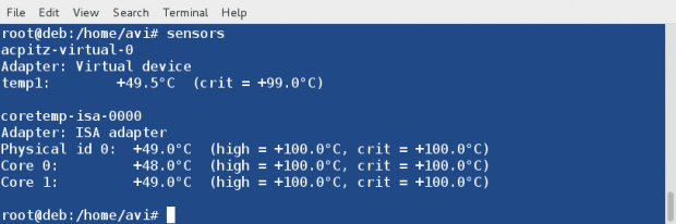 Check Temperature Hardware