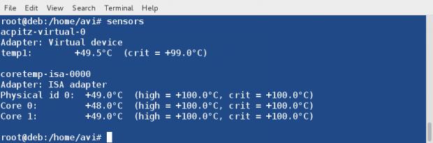 Check Temperature Hardware