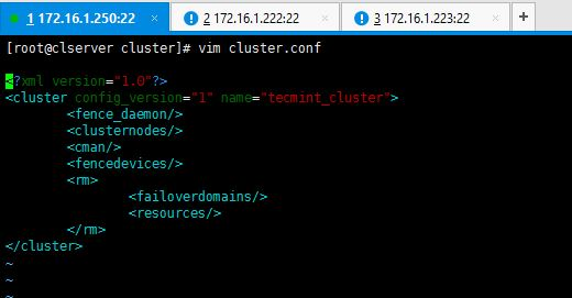 Cluster Configuration