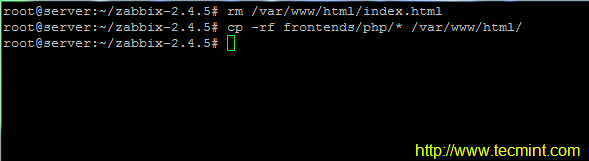 Configure Apache for Zabbix