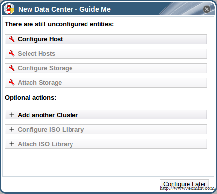 Configure Cluster Later